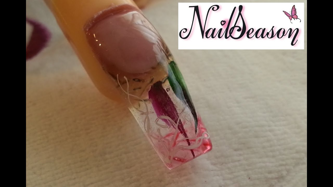 Diy Acrylic Nails Step By Step Ice Effect Tutorial 2016 Youtube