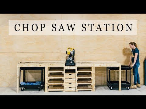 DIY Chop Saw Station