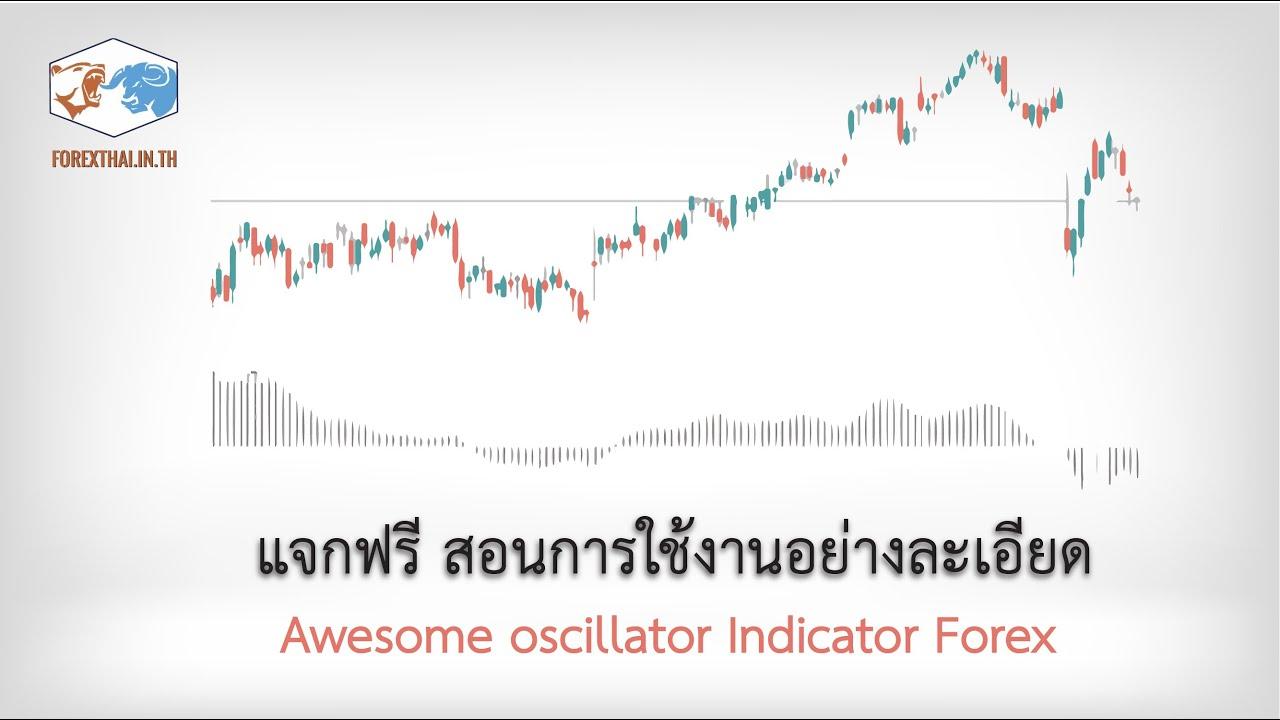 Awesome oscillator  Indicator Forex แจกฟรี สอนการใช้งานอย่างละเอียด