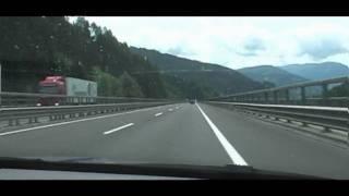 Dálnice přes Alpy do Itálie