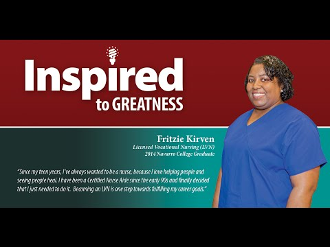 Fritzie Kirven – 2014 Licensed Vocational Nursing (LVN) Graduate at Navarro College