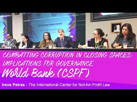 World Bank - Corruption - Civil Society - Irene Petras - ICNL