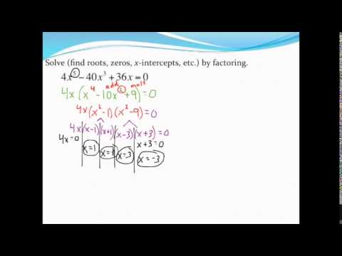 Solving Polynomial Equations By Factoring And How To Check Using A