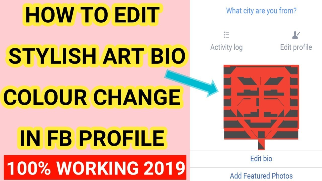 How To Add Stylish Art Symbol In Facebook Id 2019 | Stylish Colour Change  Bio