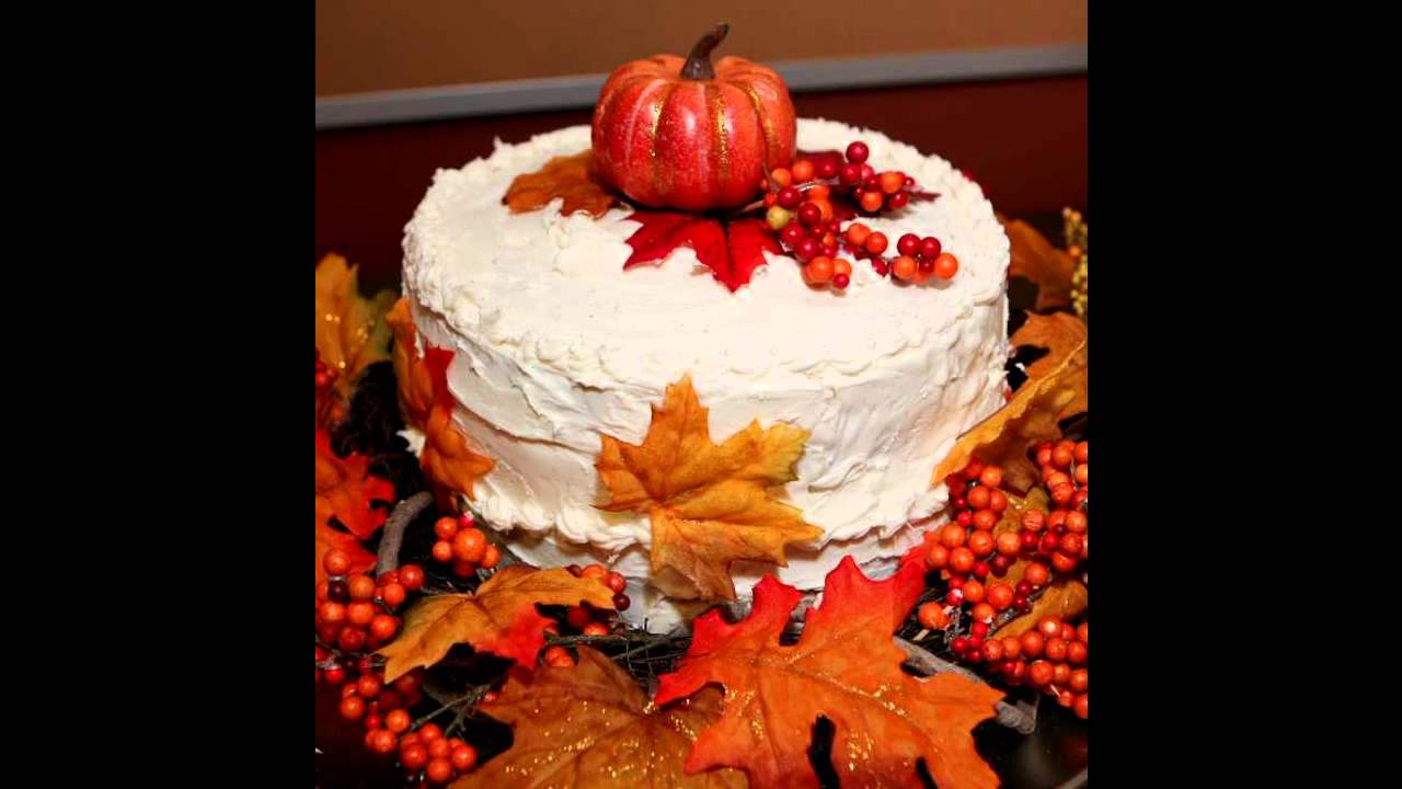 Beautiful Fall Birthday Cake Decorating Ideas Youtube