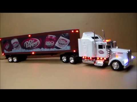 Custom Lighted Dr Pepper Tractor Trailer