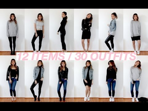 12 ITEMS = 30 OUTFITS   Spring Capsule Wardrobe   rachspeed