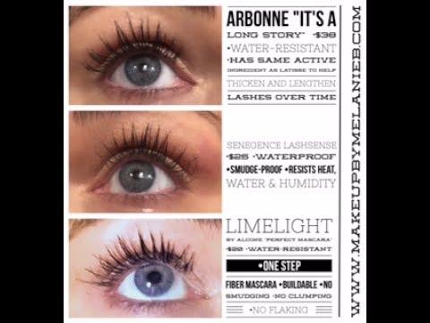 40ec870012a FAVORITE Mascara Comparison: SeneGence, Arbonne & Limelight - YouTube