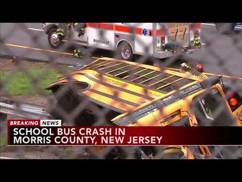 Serious school bus crash in north Jersey