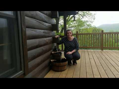 Sunnydaze Country 2-Tier Wood Barrel Water Fountain Demonstration