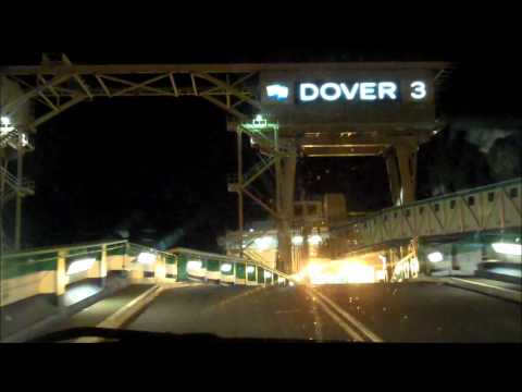 Channel crossing at Dover by camper van