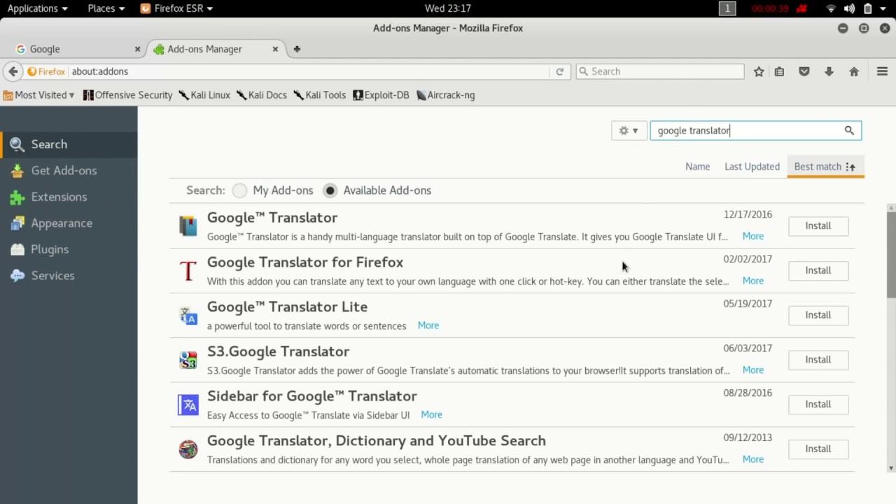 translate page Firefox