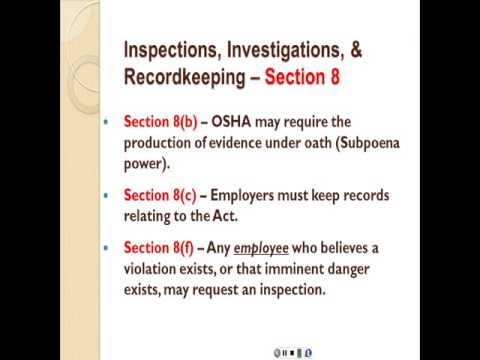 The Occupational Safety and Health Act (OSH Act)