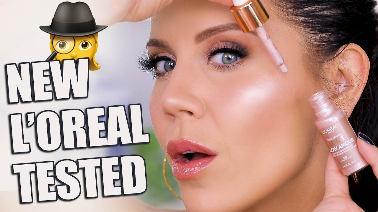 L'OREAL LUMI GLOW FACE & LIPS New Drugstore Makeup - YouTube