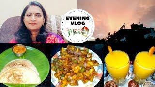Indian Mom || House Wife Evening Vlog || Gobi Manchurian Recipe || Carrot Milkshake