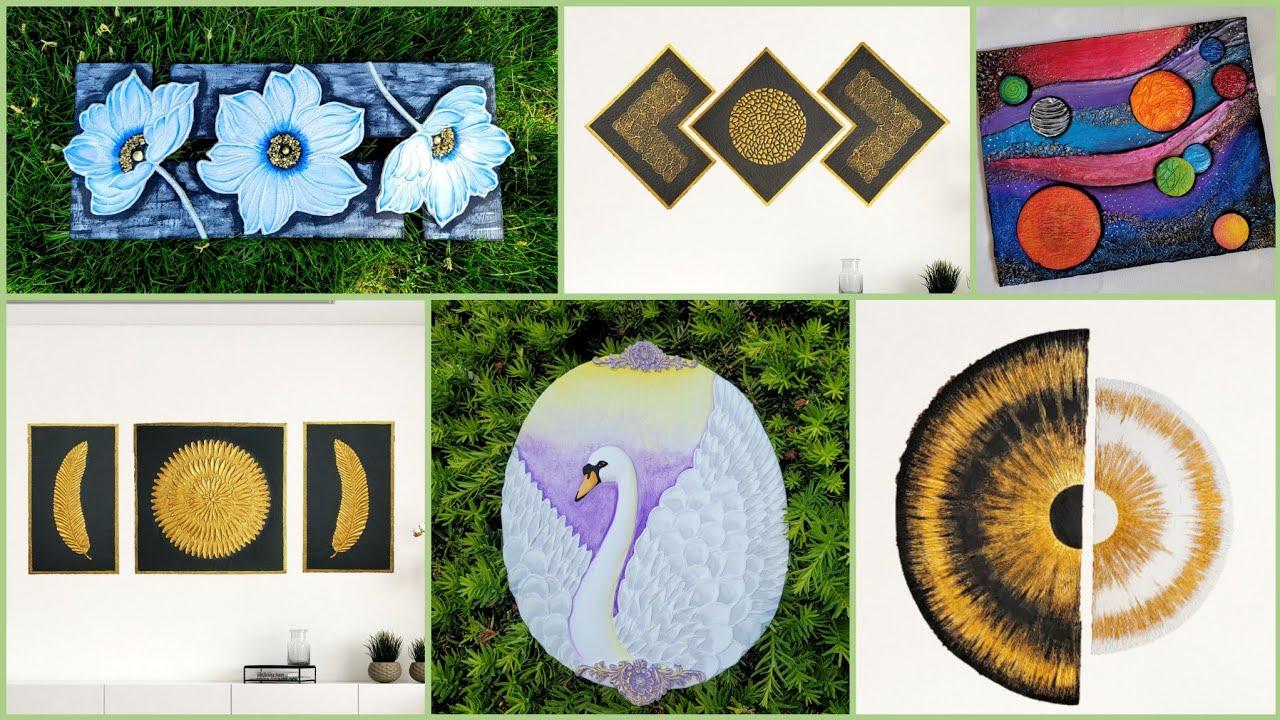 6 Beautiful wall decor ideas using cardboard/cardboard craft/art and craft/CreativeCat