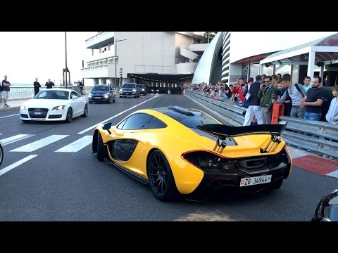 Top Marques Monaco Highlights - Supercars Tunnel Accelerations and Revving