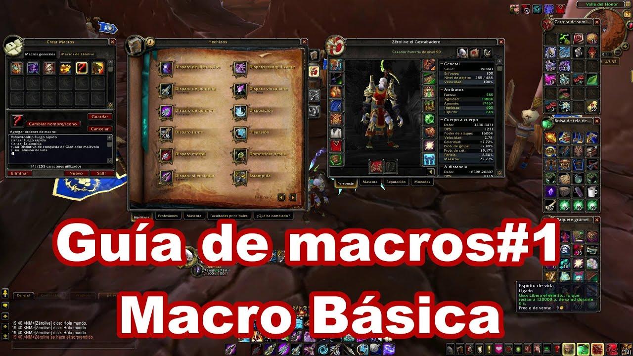 Curso De Macros Wow1 Macro Básica Youtube