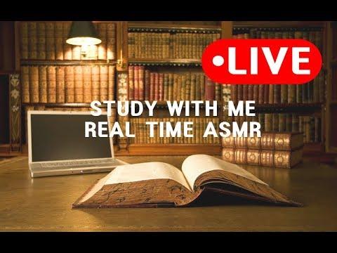 20180123 백색소음 Study with Me!!! korea woman's University Library asmr : studying writing soft spoken