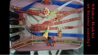 How to make Rakhi easily at home with Quilling/ Rakhi Making/ Easy Craft/ Quilling Rakhi/ Easy Rakhi