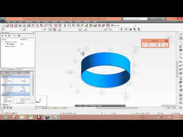 Circular Water tank analysis