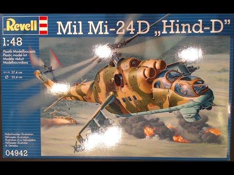 Revell Mi-24D Hind D 1:48 Unboxing