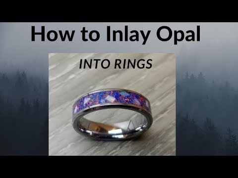 How To - Inlay Opal and other stone into wood and channel rings