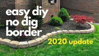 easy diy No Dig Border *2020 UPDATE*