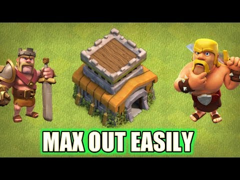 How To Max Townhall 8 Fast In Clash Of Clans!