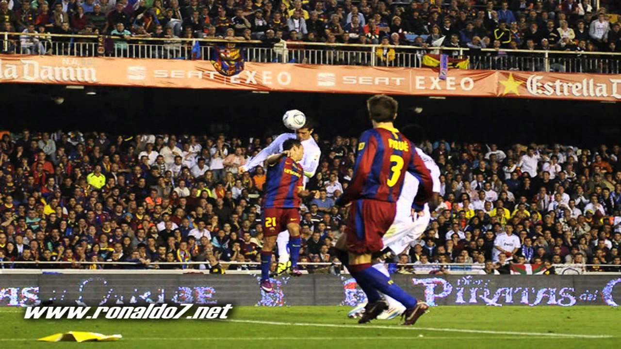real madrid 1 0 barcelona cristiano ronaldo goal in the copa del rey final 20 04 11