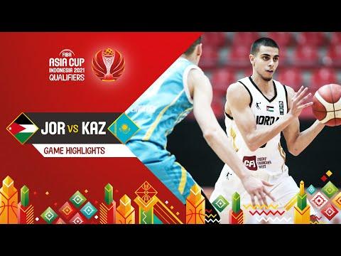 Jordan - Kazakhstan   Highlights - FIBA Asia Cup 2021 Qualifiers