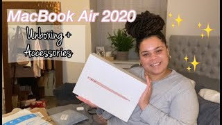 "UNBOXING MY NEW MacBook Air 13"" 2020 + Accessories 
