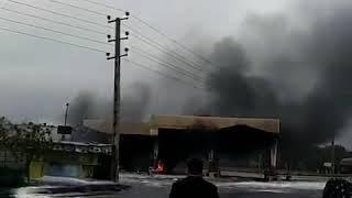 آتش زدن ۲ پمپ بنزین در اسلامشهر در اولین روز اعتراضات