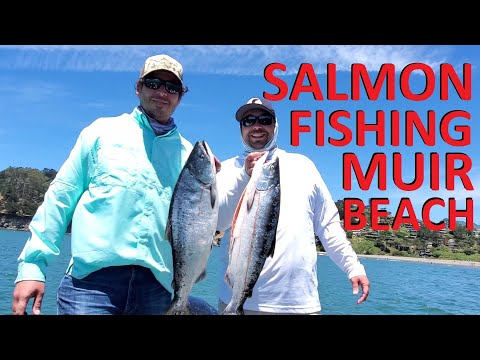 *HOT ACTION* Salmon Fishing Muir Beach Marin Coast