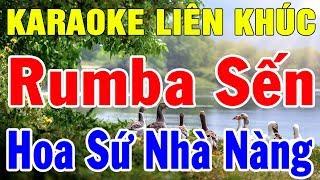 Karaoke Bolero Nhạc Vàng Trữ Tình Hải Ngoại | LIên khúc Nhạc Sống Rumba Hoa Sứ Nhà Nàng | Trọng Hiếu