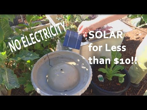 NO ELECTRICITY-BIRDBATH with SOLAR Pump Fountain in Garden f