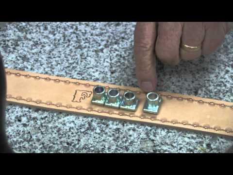 Lower Case Alphabet Stamp Set Leather Tutorial