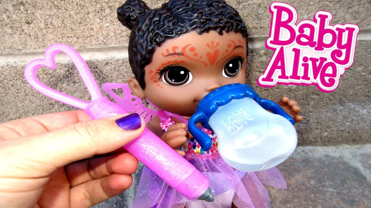 Baby Alive Face Paint Fairy Unboxing Baby Alive Youtube