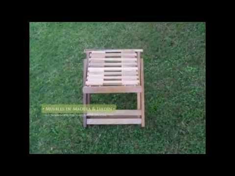 silla banqueta plegable muebles de madera y jard n com