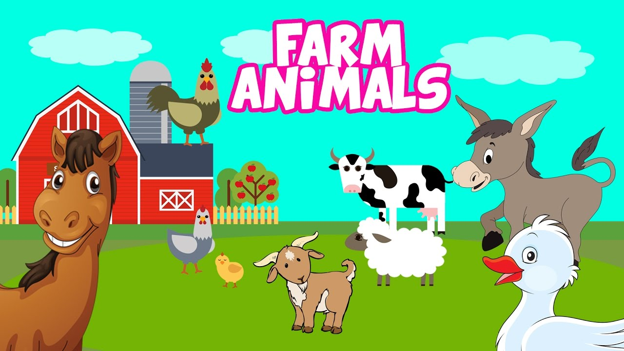 Farm Animals | Horse - Goat - Donkey - Cow - Rooster - Sheep - Duck ...