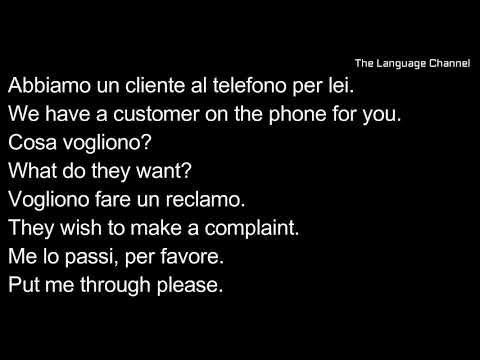Learn Italian Conversation - For Business/ Workplace/ Work