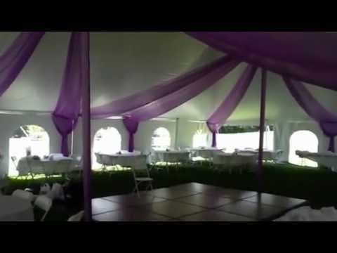 & Beautiful Wedding Tent Draped in Color - YouTube