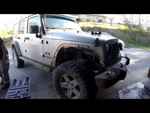 Adding Pre Cut Fender Flares 2008 Jeep Wrangler Youtube
