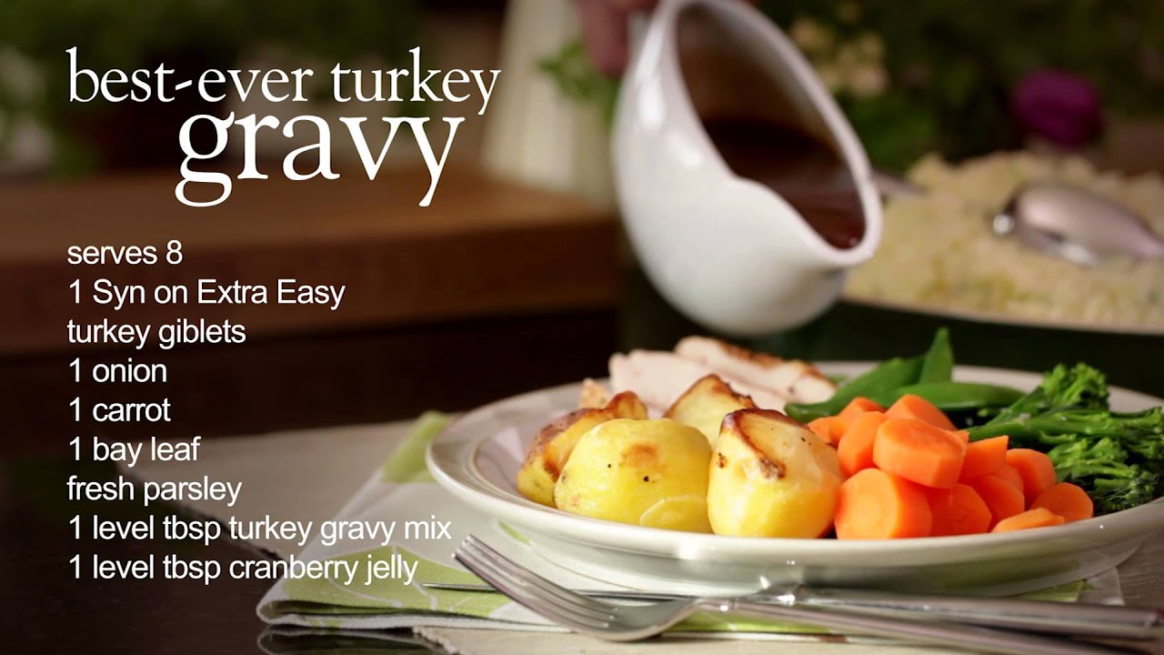 Slimming world best ever turkey gravy youtube Slimming world recipes for 1 person