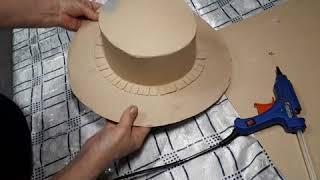 как сделать шляпу из картона для девочек