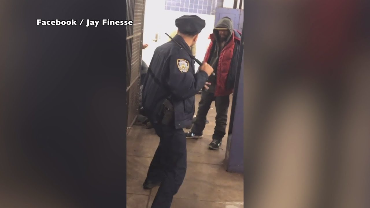 Video shows NYPD officer attacked on subway platform