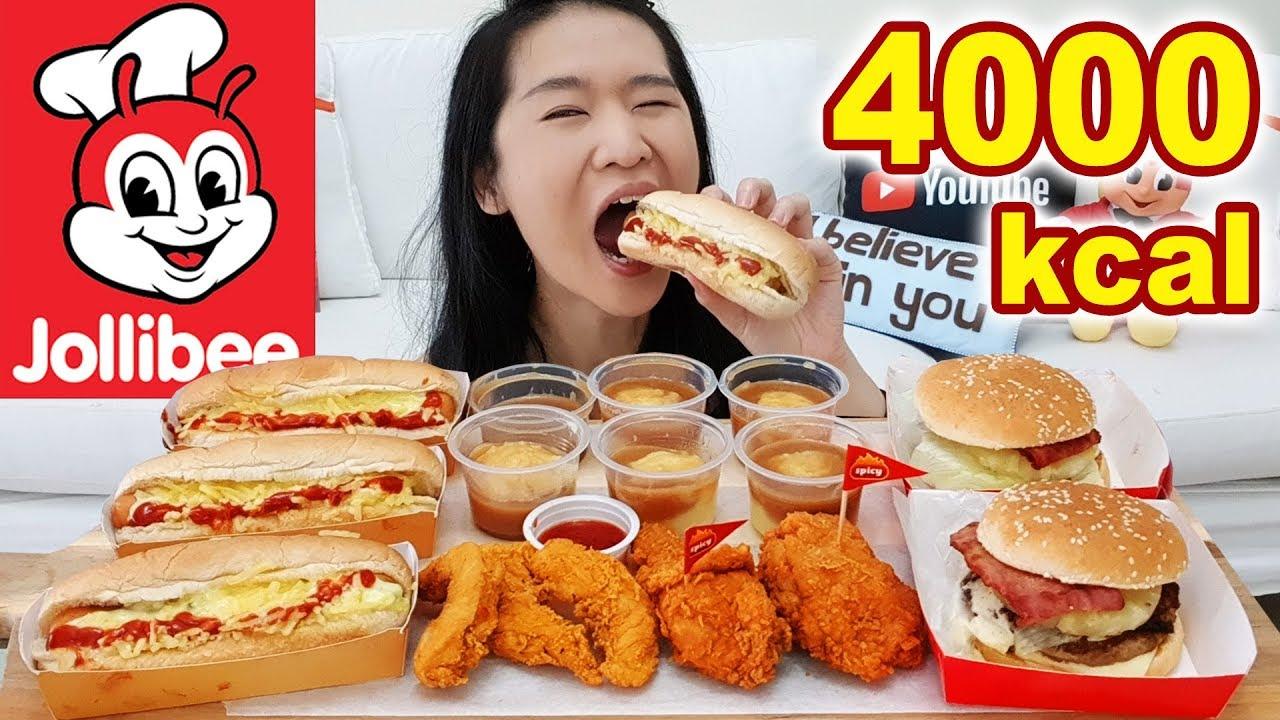 4 000 Calories Jollibee Feast Chicken Joy Jolly Hotdog Aloha