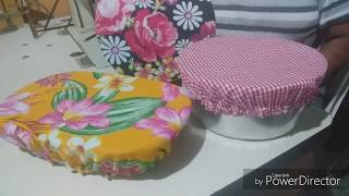 Faça Cobridor de Vasilha em Chita