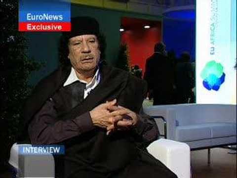 EuroNews - Interview - Muammar al-Gaddafi
