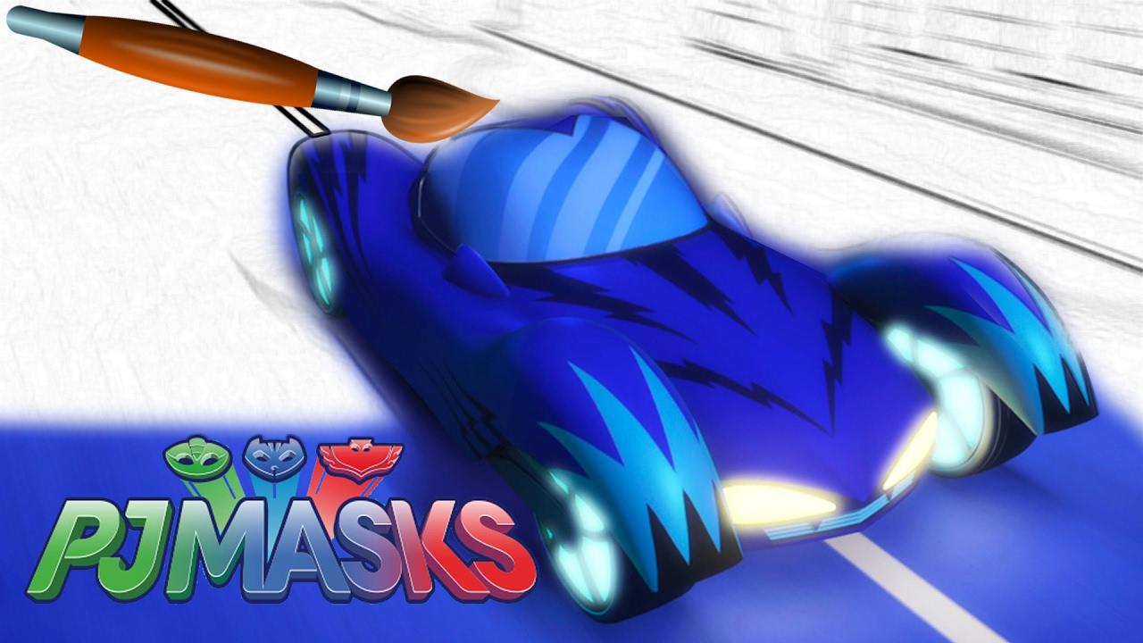 Pj Masks Cat Car Gekko Mobile Owl Glider Coloring Pages Book Video For Kids Episode 26